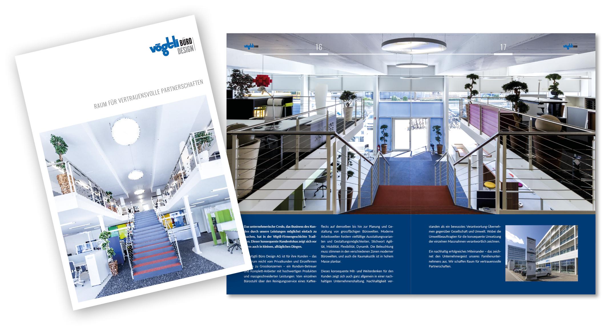 Broschüre Vögtli Büro Design